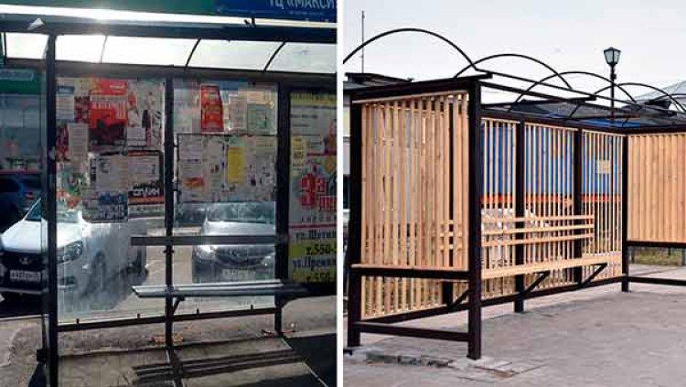 Странным способом власти Вологды решили бороться с расклейщиками рекламы на остановках